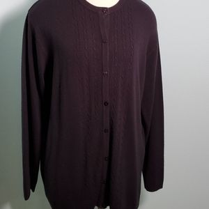 Kathie 00Lee black button up sweater 19/20W